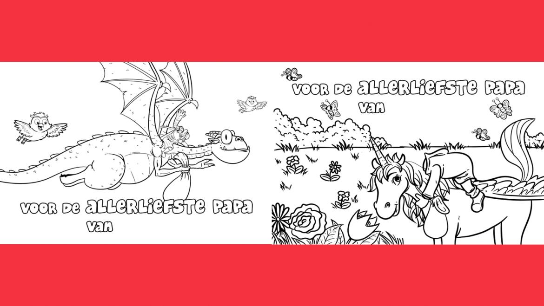 Persoonlijke knutsel-kleurplaat voor VADERDAG