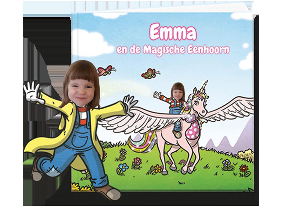 gepersonaliseerd kinderboek eenhoorn